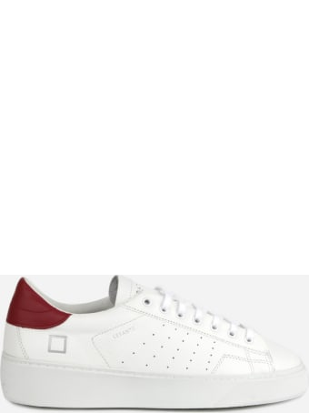 D.A.T.E. Levante Sneakers In Leather With Contrasting Heel Tab