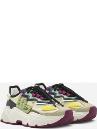 Dolce & Gabbana Daymaster Sneakers In Nylon With Leather Inserts