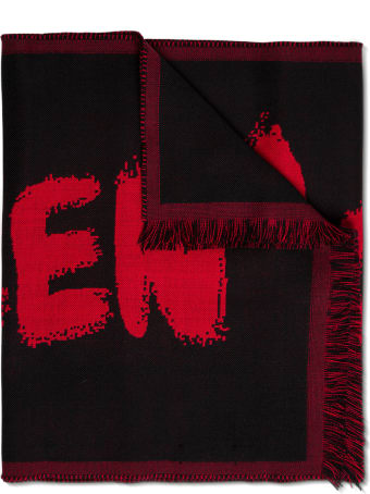 Alexander McQueen Wool Scarf With Logo