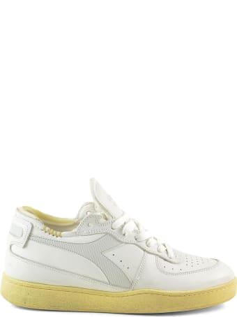 Diadora Heritage White Leather Low-top Women's Sneakers