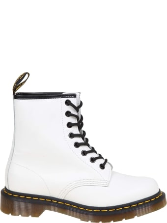 Dr. Martens Dr.martens Smooth Boots In White Leather