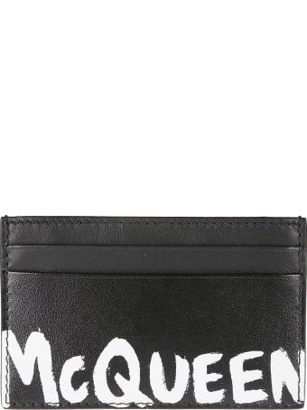 Alexander McQueen Logo Pain Card Holder