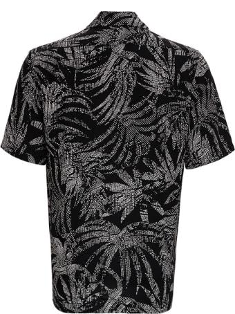 Saint Laurent Viscose Shirt With Tropical Print
