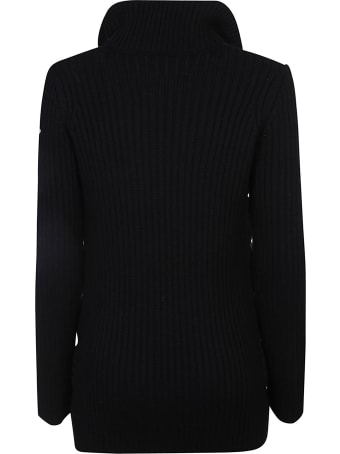 Moncler Knitted Sleeve Padded Jacket
