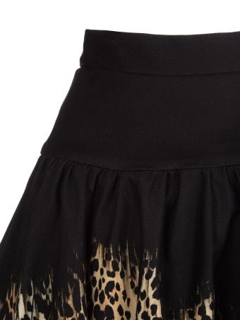 Roberto Cavalli Midi Skirt With Queen Of Sicily Print