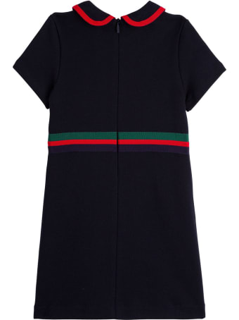 Gucci Cotton Jersey Dress With Web Detail