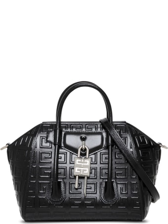 Givenchy Antigona Lock Handbag In 4g Black Leather