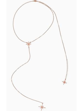 Federica Tosi Lace Back Star Necklace Rose Gold