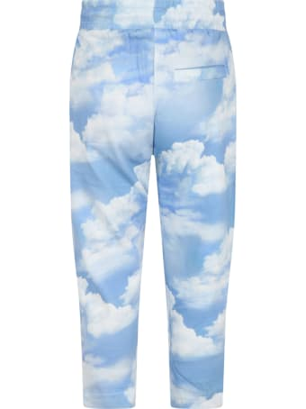 Molo Light Blue ''aurora'' Sweatpant For Kids With Clouds