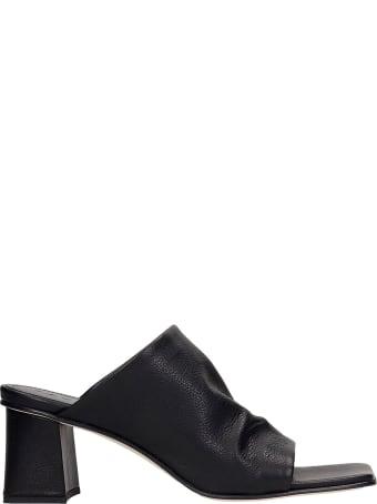 Fabio Rusconi Sandals In Black Leather