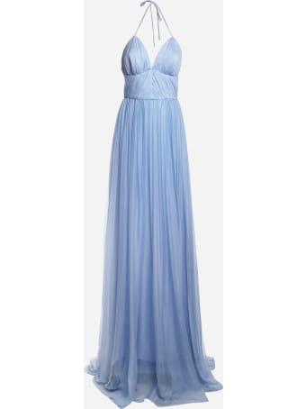 Rhea Costa Cielo Long Dress Made Of Silk Chiffon