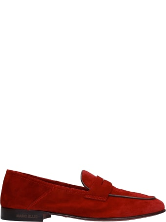 Marc Ellis Loafers In Red Suede