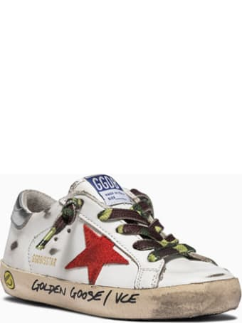 Golden Goose Deluxe Brand Super Star Laminated Sneakers Gjf00101. F001157