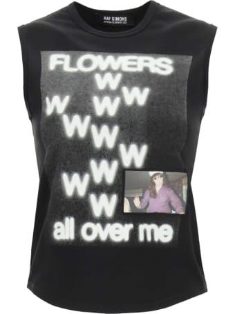 Raf Simons Flowers Print Top