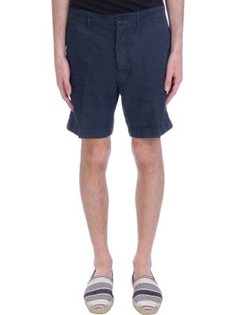 120% Lino Shorts In Blue Linen