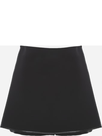 Valentino High-waisted Shorts In Virgin Wool And Silk