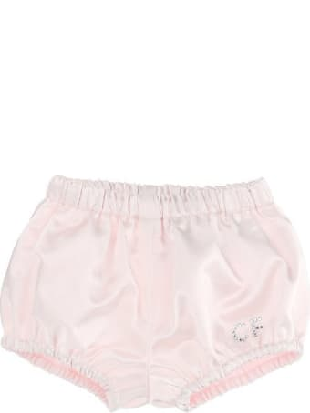 Chiara Ferragni Pink Satin Culotte With Cf Logo