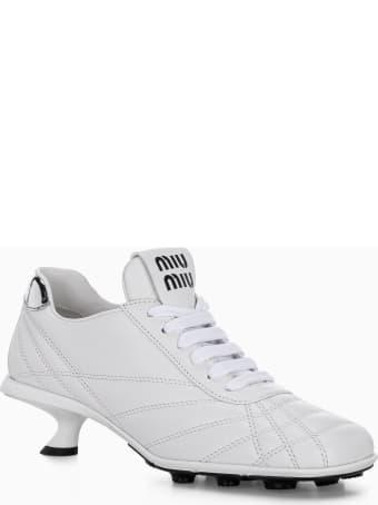 Miu Miu Nappa Leather Mid Heel Sneakers