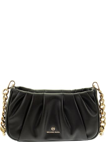 Michael Kors Hannah - Small Convertible Clutch Bag With Pleats