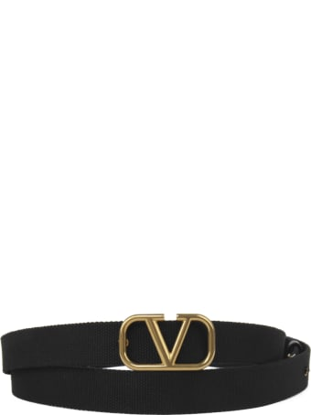 Valentino Garavani Vlogo Belt In Ribbon