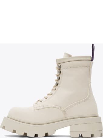 Eytys Off-white Canvas Ankle Boots