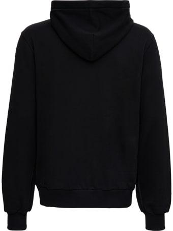 Dolce & Gabbana Black Cotton Hoodie With Logo