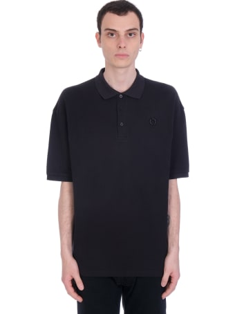 Fred Perry by Raf Simons Polo In Black Cotton