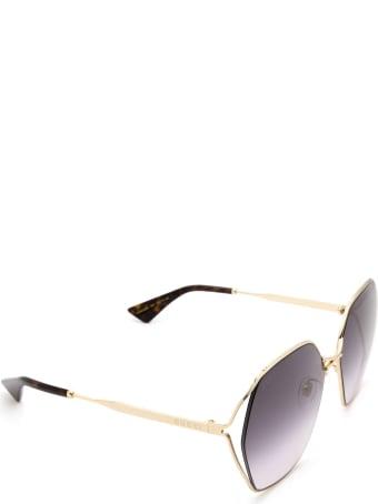 Gucci Gucci Gg0818sa Gold Sunglasses