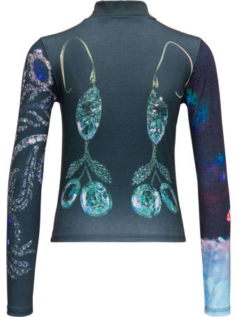Chopova Lowena Long-sleeved Jewel  Stretch Jersey Top