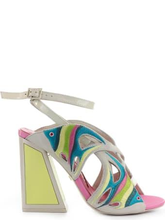 Kat Maconie Pisces Pink Yellow Sandal