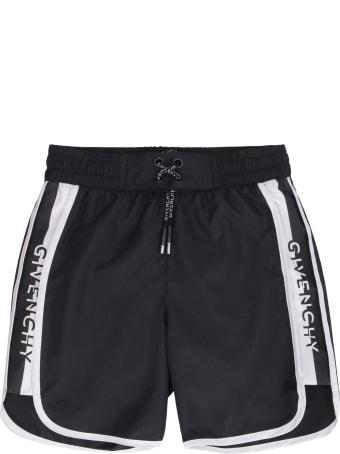 Givenchy Logo Print Swim Shorts