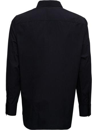 Givenchy Black Cotton Poplin Shirt With Zip