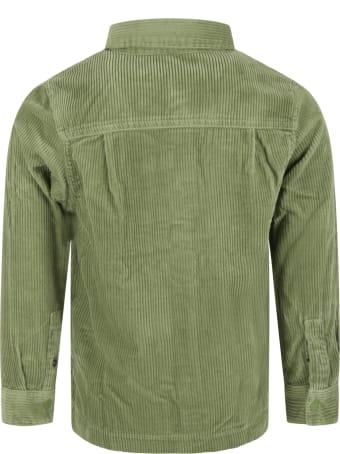 Scotch & Soda Green Shirt For Boy With Logo