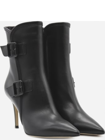 Gianvito Rossi Leather Ankle Boots With Buckles