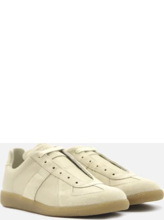 Maison Margiela Replica Low-top Sneakers In Leather And Suede