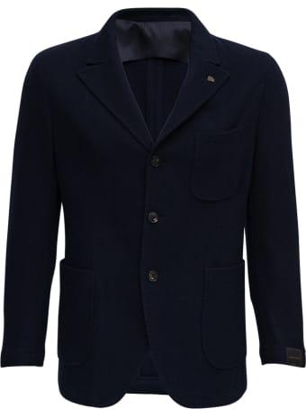 Gabriele Pasini Single-breasted Blue Cashmere Jacket
