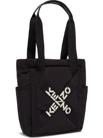 Kenzo Tote Active Black Nylon Handbag