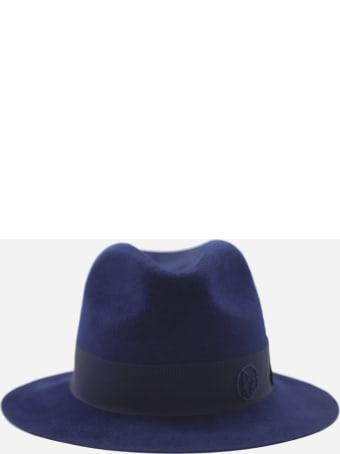 Ruslan Baginskiy Fedora Hat With Grosgrain Ribbon And Monogram Detail