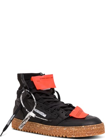 Off-White 3.0 Off Court Black Leather Sneakers