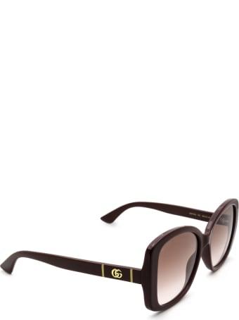 Gucci Gucci Gg0762s Burgundy Sunglasses