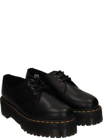 Dr. Martens 1461 Quad Lace Up Shoes In Black Leather