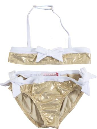 Lili Gaufrette Bow Detail Bikini