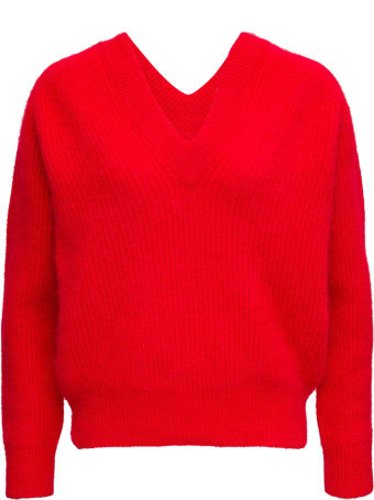 Forte_Forte Red Wool Blend Sweater