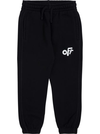 Off-White Black Cotton Joggers With Off Print
