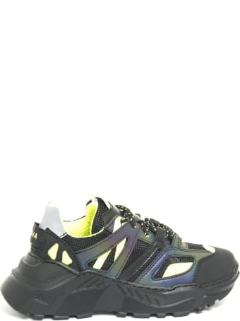 Cinzia Araia Black Fabric Sneakers