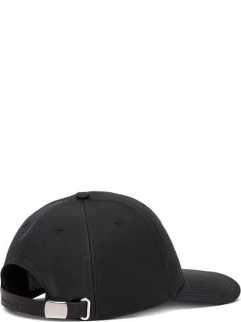 Alexander McQueen Black Hat With Graffiti Logo