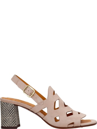 Chie Mihara Lorida Sandals In Beige Suede