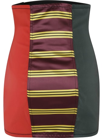 Philosophy di Lorenzo Serafini Stripe Detail Logo Embroidered Skirt