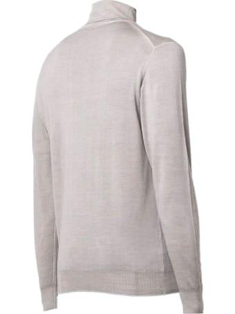 Fedeli Light Grey Merino Wool Sweater