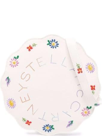 Stella McCartney Kids Cotton Crossbody Bag With Floral Logo